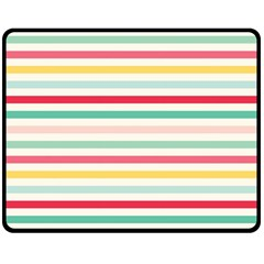 Papel De Envolver Hooray Circus Stripe Red Pink Dot Double Sided Fleece Blanket (medium)  by Amaryn4rt