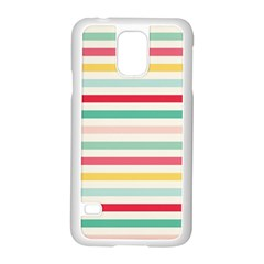 Papel De Envolver Hooray Circus Stripe Red Pink Dot Samsung Galaxy S5 Case (white) by Amaryn4rt