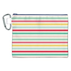 Papel De Envolver Hooray Circus Stripe Red Pink Dot Canvas Cosmetic Bag (xxl)
