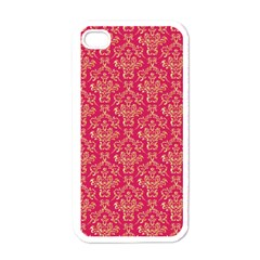 Damask Background Gold Apple Iphone 4 Case (white)