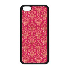 Damask Background Gold Apple Iphone 5c Seamless Case (black) by Amaryn4rt