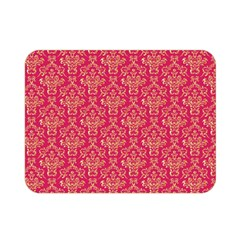 Damask Background Gold Double Sided Flano Blanket (mini)