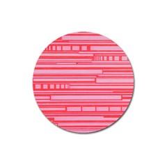 Index Red Pink Magnet 3  (round) by Amaryn4rt