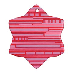 Index Red Pink Ornament (snowflake) by Amaryn4rt
