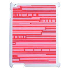 Index Red Pink Apple Ipad 2 Case (white) by Amaryn4rt