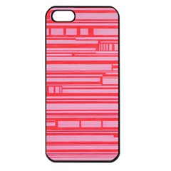 Index Red Pink Apple Iphone 5 Seamless Case (black) by Amaryn4rt