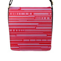 Index Red Pink Flap Messenger Bag (l)  by Amaryn4rt