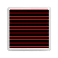 Red And Black Horizontal Lines And Stripes Seamless Tileable Memory Card Reader (square)