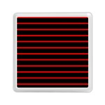 Red And Black Horizontal Lines And Stripes Seamless Tileable Memory Card Reader (Square)  Front