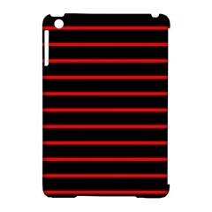 Red And Black Horizontal Lines And Stripes Seamless Tileable Apple Ipad Mini Hardshell Case (compatible With Smart Cover) by Amaryn4rt