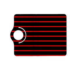 Red And Black Horizontal Lines And Stripes Seamless Tileable Kindle Fire Hd (2013) Flip 360 Case