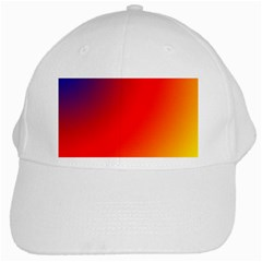 Rainbow Background White Cap by Amaryn4rt