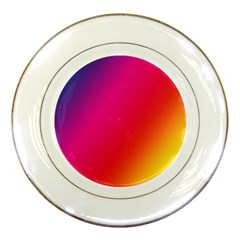Rainbow Colors Porcelain Plates by Amaryn4rt