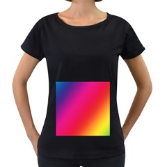 Rainbow Colors Women s Loose Fit T Shirt (black) by Amaryn4rt