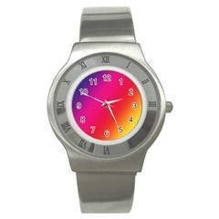 Rainbow Colors Stainless Steel Watch by Amaryn4rt