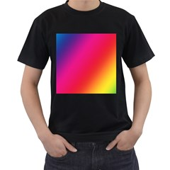 Rainbow Colors Men s T Shirt (black) by Amaryn4rt