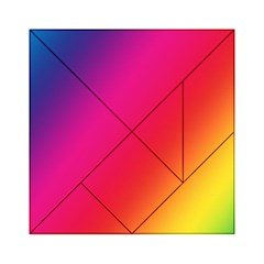 Rainbow Colors Acrylic Tangram Puzzle (6  X 6 ) by Amaryn4rt
