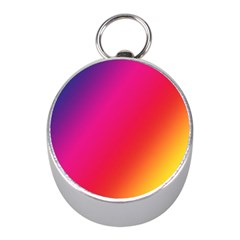 Rainbow Colors Mini Silver Compasses by Amaryn4rt