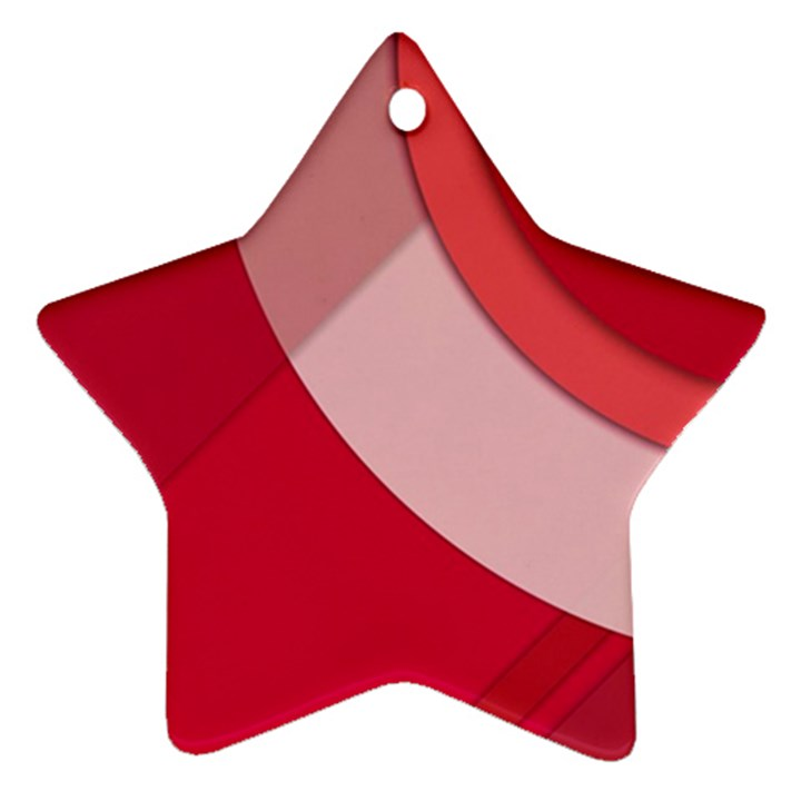 Red Material Design Ornament (Star)