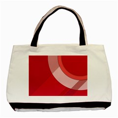 Red Material Design Basic Tote Bag by Amaryn4rt