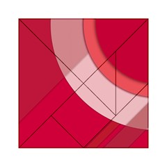 Red Material Design Acrylic Tangram Puzzle (6  X 6 ) by Amaryn4rt