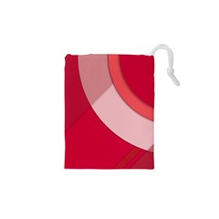 Red Material Design Drawstring Pouches (xs)  by Amaryn4rt