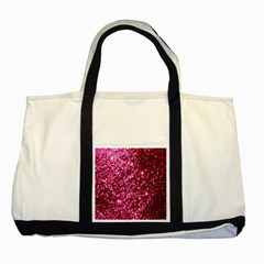 Pink Glitter Two Tone Tote Bag