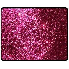 Pink Glitter Double Sided Fleece Blanket (Medium)  by Amaryn4rt