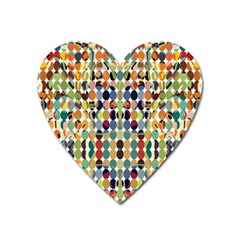 Retro Pattern Abstract Heart Magnet by Amaryn4rt