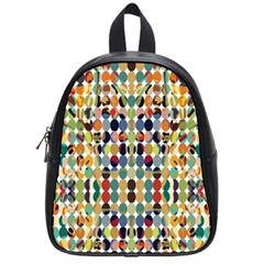Retro Pattern Abstract School Bags (small)  by Amaryn4rt