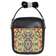 Retro Pattern Abstract Girls Sling Bags