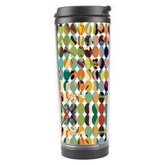 Retro Pattern Abstract Travel Tumbler by Amaryn4rt