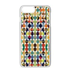 Retro Pattern Abstract Apple iPhone 7 Plus White Seamless Case by Amaryn4rt