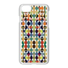 Retro Pattern Abstract Apple iPhone 7 Seamless Case (White) by Amaryn4rt