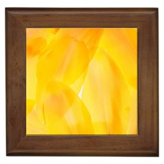 Yellow Pattern Painting Framed Tiles by Amaryn4rt