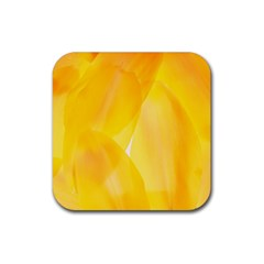 Yellow Pattern Painting Rubber Square Coaster (4 Pack)  by Amaryn4rt