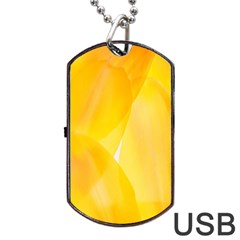 Yellow Pattern Painting Dog Tag Usb Flash (one Side) by Amaryn4rt