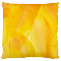 Yellow Pattern Painting Standard Flano Cushion Case (one Side) by Amaryn4rt