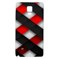 Red Textured Galaxy Note 4 Back Case by Amaryn4rt