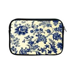 Vintage Blue Drawings On Fabric Apple Ipad Mini Zipper Cases by Amaryn4rt