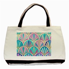 Beautiful Blue Sea Shell Basic Tote Bag by Brittlevirginclothing