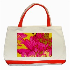 Beautiful Pink Flowers Classic Tote Bag (red) by Brittlevirginclothing