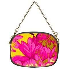 Beautiful Pink Flowers Chain Purses (one Side)  by Brittlevirginclothing