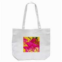 Beautiful Pink Flowers Tote Bag (white) by Brittlevirginclothing