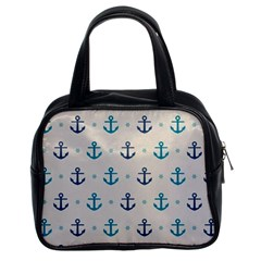 Sailor Anchor Classic Handbags (2 Sides) by Brittlevirginclothing