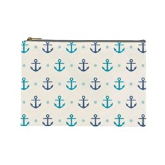 Sailor Anchor Cosmetic Bag (large)  by Brittlevirginclothing