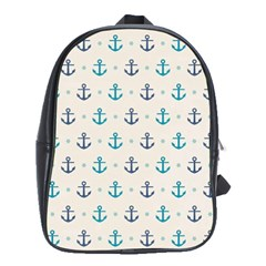 Sailor Anchor School Bags(large)  by Brittlevirginclothing