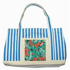 Map Striped Blue Tote Bag by Brittlevirginclothing