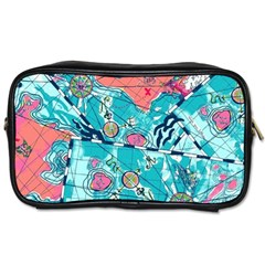Map Toiletries Bags 2 Side