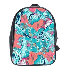 Map School Bags (xl)  by Brittlevirginclothing